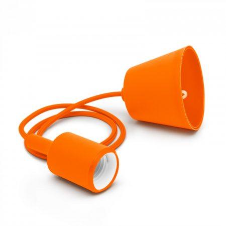 Minimál stílusú, szilikon függőlámpa E27 foglalattal - narancssárga