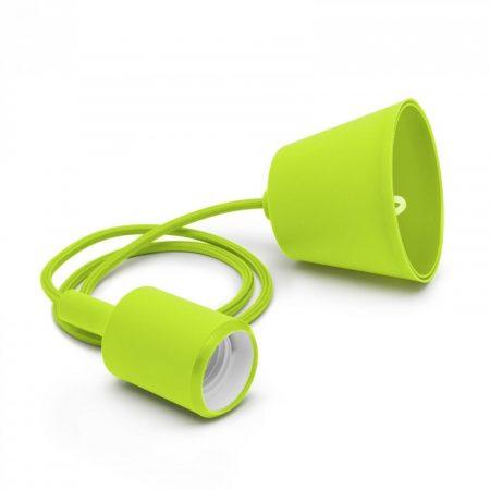 Minimál stílusú, szilikon függőlámpa E27 foglalattal - zöld