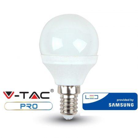 V-TAC PRO 5.5W E14 meleg fehér LED lámpa izzó - SAMSUNG chip - 168