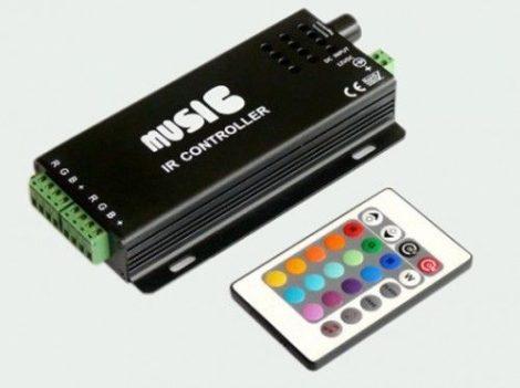 Infravörös hangvezérlő távirányítóval, IR vezérlő LED szalaghoz