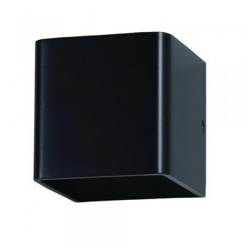 V-TAC 5W fali LED lámpa - természetes fehér - fekete ház - 7094