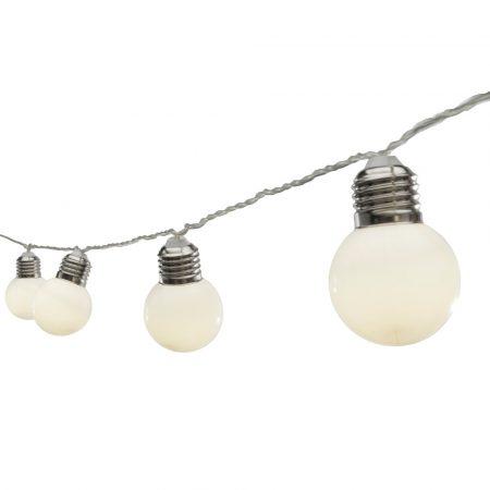 Somogyi Globe ML 10 LED égő formájú elemes party fényfüzér