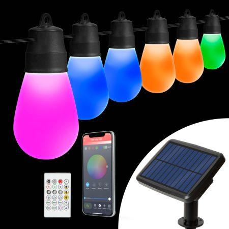 Home 10m RGB színes vízálló party fényfüzér