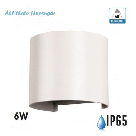 V-TAC fehér kültéri fali lámpa állítható fénysugárral - IP65, 6W, meleg fehér - 7082