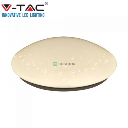 V-TAC LED mennyezeti lámpa 18W - csillagos búrával - 1378