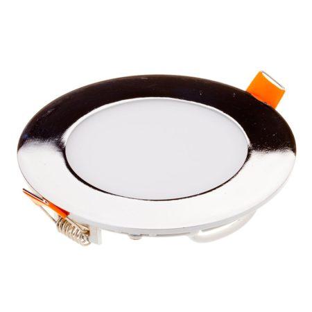 V-TAC süllyeszthető, kerek LED panel matt króm kerettel 18W - 4000K - 6350