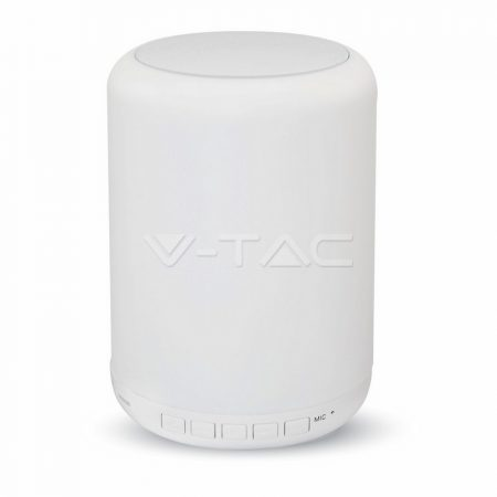 V-TAC LED asztali lámpa RGB+W, bluetooth-os hordozható hangszóró - 8516