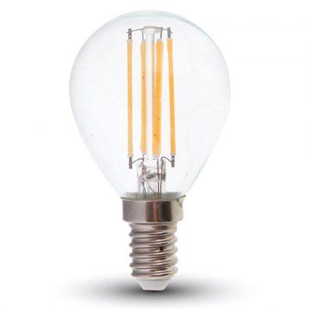 V-TAC dimmelhető filament LED lámpa izzó 4W, E14, meleg fehér - 4394