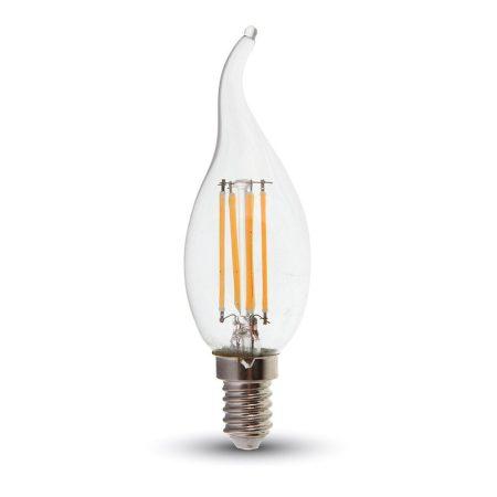 V-TAC filament dimmelhető LED gyertya izzó - 4W - E14 - meleg fehér - 4366