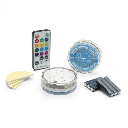 Távirányítós RGB LED lámpa színváltós hangulatvilágítás - 2 db/bliszter