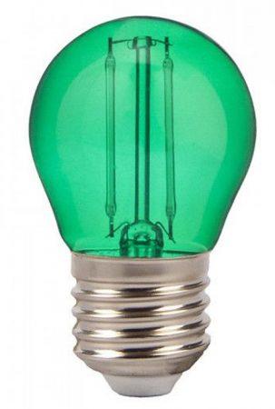 V-TAC filament LED izzó E27, 2W, zöld - 7411