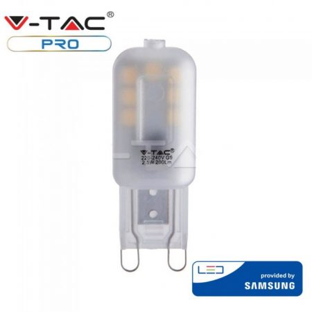 V-TAC PRO G9 LED izzó 2,5W, 3000K - Samsung chip - 243