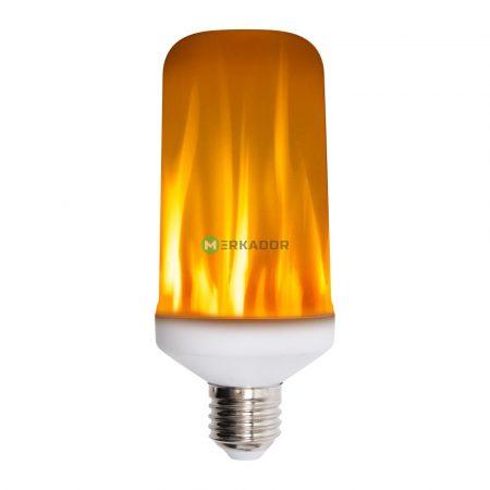 Home 4W E27 láng imitáló LED lámpa izzó, fáklyaláng égő