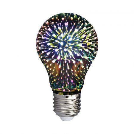 V-TAC 3W E27 A60 3D hatású LED lámpa izzó - 2704