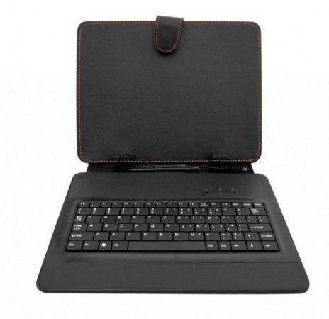 """Tablet tok, 7""""-8"""" fekete, microUSB billentyűzet"""