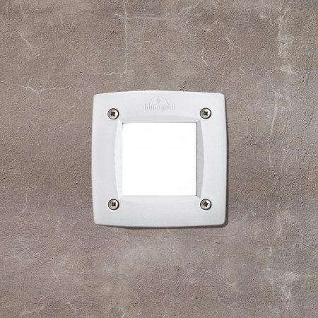 Falba süllyesztett kültéri/beltéri fali LED lámpa GX53 égővel - fehér, négyzet