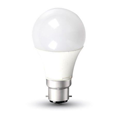 V-TAC 9W B22 A60 meleg fehér LED lámpa izzó - 7422