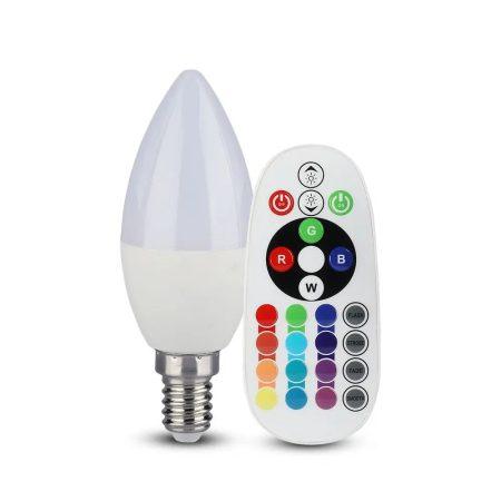 V-TAC színváltós RGB+ természetes fehér LED lámpa izzó 3.5W / E14 - 2770