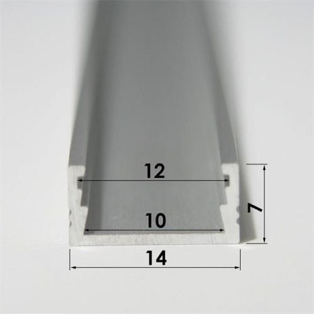 Aluminium LED szalag sín profil 1M
