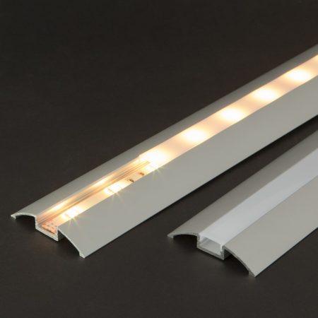 Burkolatváltó LED alumínium profil fehér fedlappal