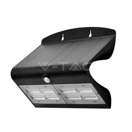 V-TAC napelemes LED lámpa, reflektor mozgásérzékelővel 6,8W, fekete - 8279