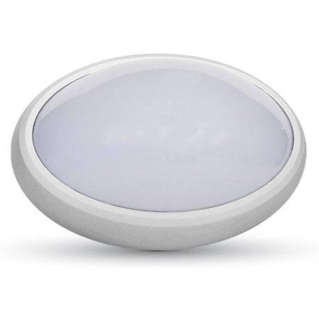 V-TAC fali / mennyezeti 12W ovális lámpa, IP54 - 3000K - fehér - 1351