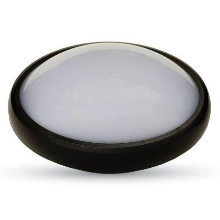 V-TAC fali / mennyezeti 12W ovális lámpa, IP54 - 6400K - fekete - 1269