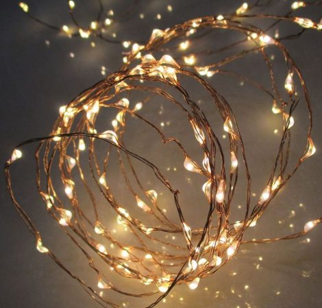 Home micro LED elemes beltéri fényfüzér 4,9m