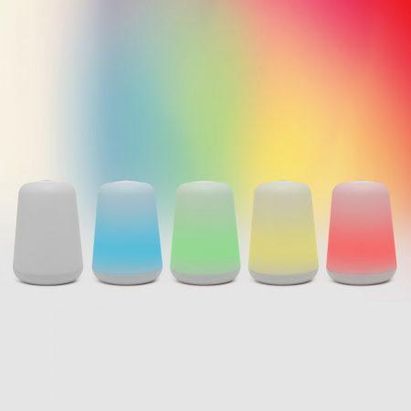 2in1 színváltós asztali LED lámpa hangulatvilágítás + zseblámpa