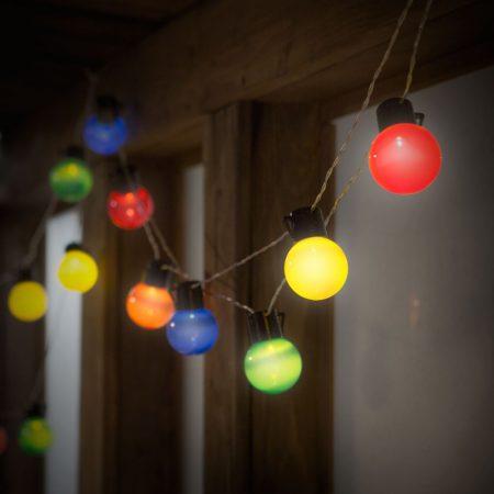 Elemes party LED kültéri fényfüzér 6m