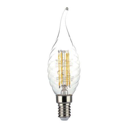 V-TAC filament 4W E14 COG LED gyertya izzó - meleg fehér - 4308
