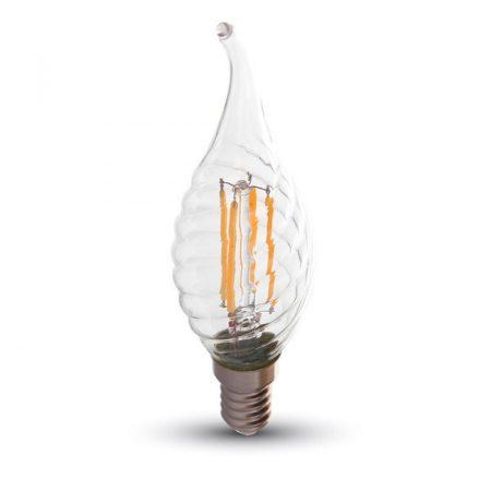 V-TAC filament 4W E14 COG LED gyertya izzó - hideg fehér - 4432