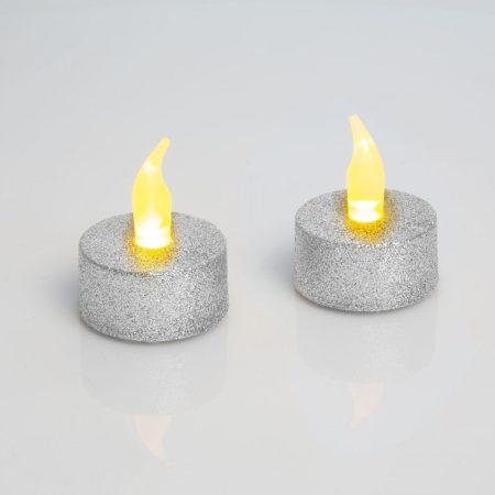Elemes LED-es gyertya / LED mécses - Ezüst