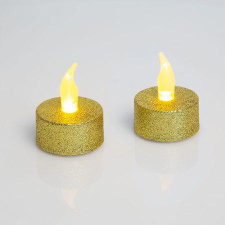 Elemes LED-es gyertya / LED mécses - Arany
