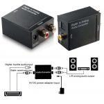 Digitális - analóg átalakító audio konverter 1m toslink kábellel