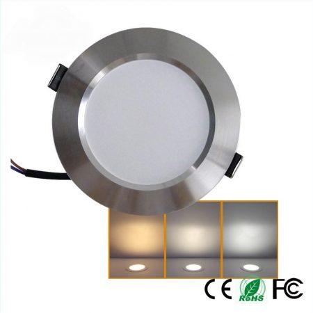 V-TAC süllyeszthető, kerek LED panel króm kerettel 18W - 3000K - 6346