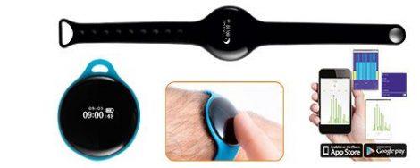 FLEX fitness karóra, multifunkciós okosóra - fekete