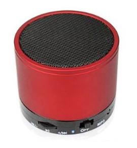 MP3 lejátszó bluetooth hangfal FM rádióval - vörös