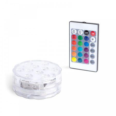 Távirányítós elemes RGB LED lámpa medence világítás
