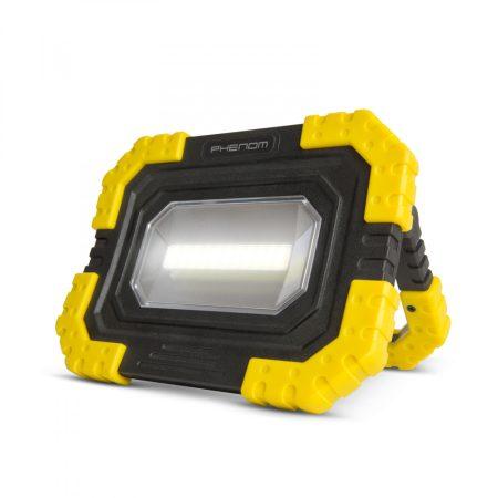 Por és vízálló 16W akkumulátoros hordozható LED reflektor, telefontöltő funkcióval
