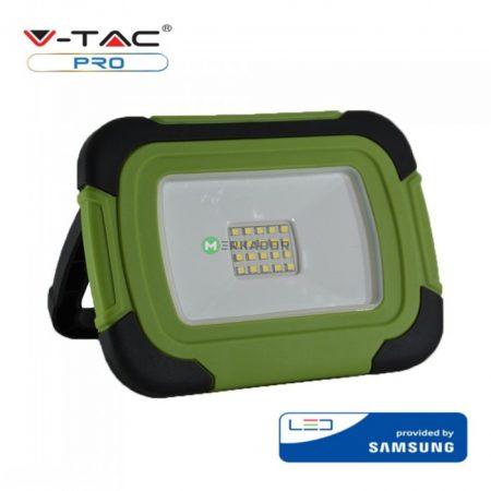V-TAC IP44 10W Samsung chipes, akkumulátoros hordozható LED reflektor - 503
