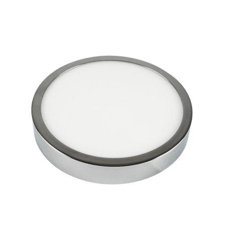 V-TAC felületre szerelhető kerek LED lámpa panel, króm, 12W - 4000K - 6365