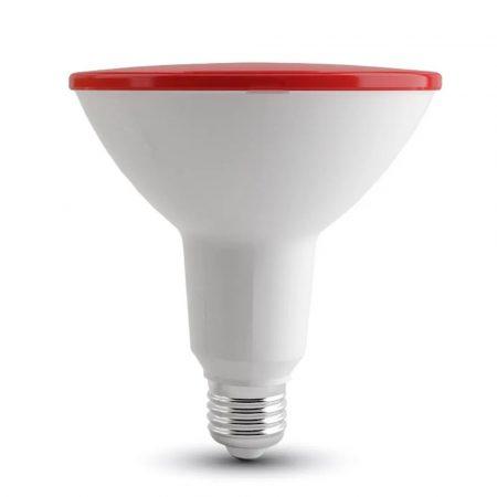 V-TAC piros LED izzó 9W E27 foglalat - 7341