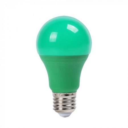 V-TAC zöld LED izzó 9W E27 foglalat - 7343