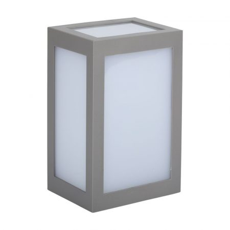 V-TAC kültéri fali dekor LED lámpatest - szürke - 8338