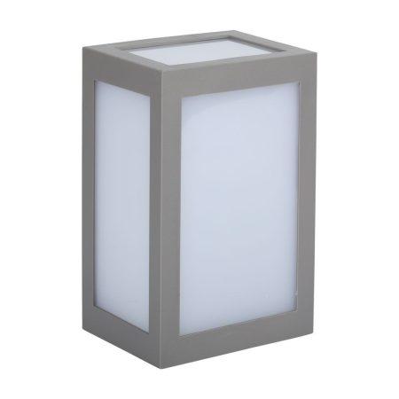 V-TAC kültéri 12W fali dekor LED lámpatest - szürke, természetes fehér - 8338