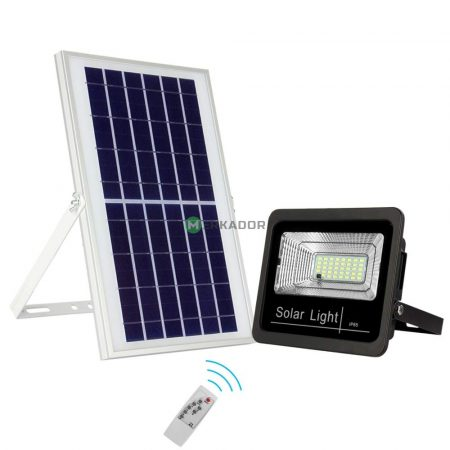 V-TAC 35W napelemes LED reflektor, szolár fényvető távirányítóval - 8576