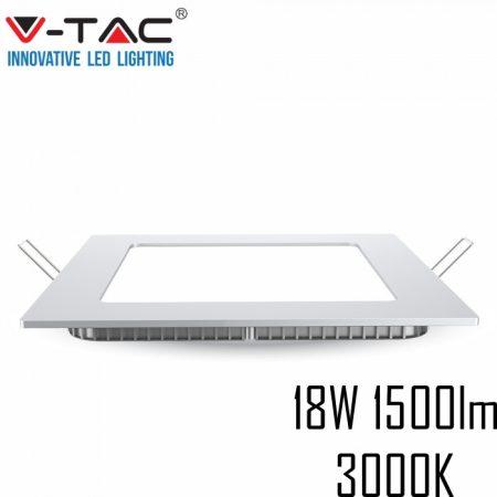 V-TAC süllyeszthető mennyezeti négyzet LED lámpa panel - 18W, meleg fehér - 4869