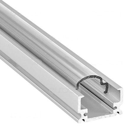 Falon kívüli alumínium LED profil áttetsző fedlap