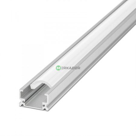 Falon kívüli alumínium LED profil fehér fedlap